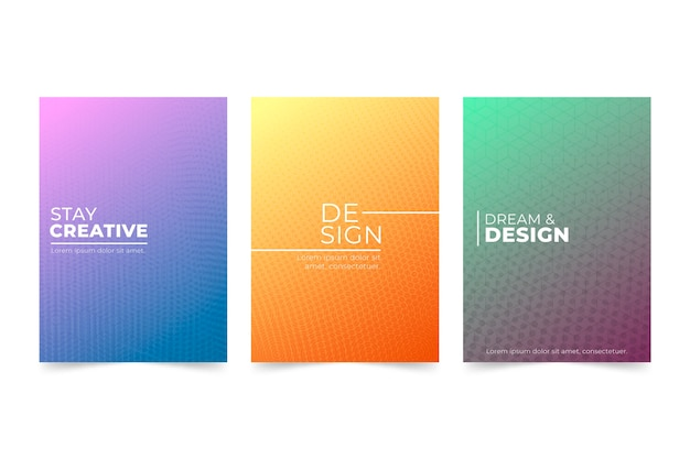 Concept De Collection De Couverture Dégradé De Demi-teintes Vecteur gratuit