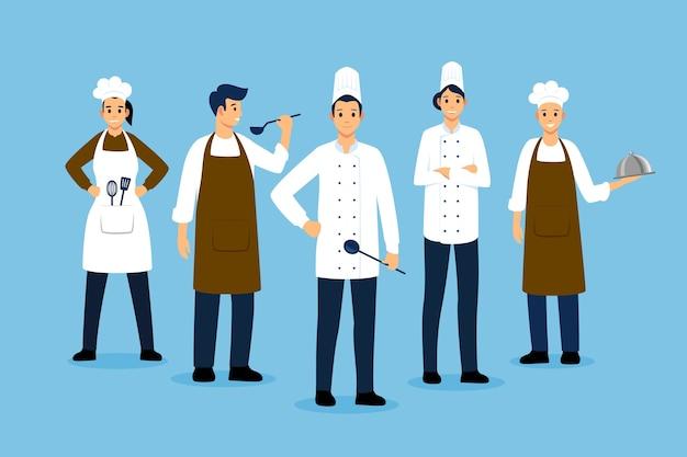 Concept De Collection De Cuisinier Vecteur gratuit