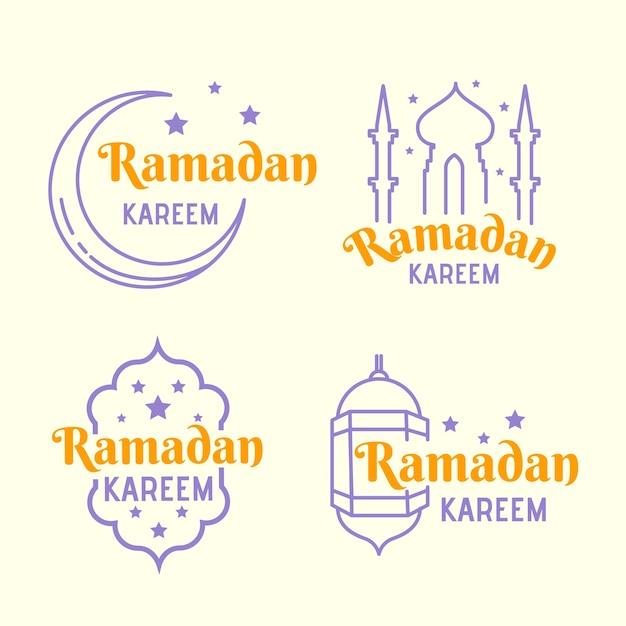Concept De Collection D'étiquettes De Ramadan Vecteur gratuit