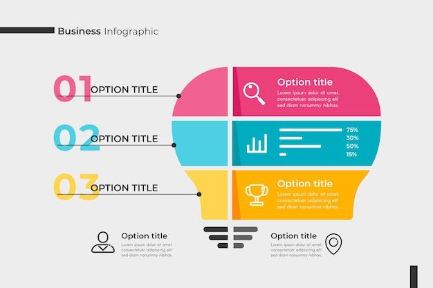 Concept De Collection Infographique D'entreprise Vecteur gratuit