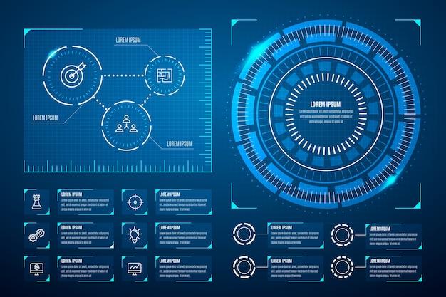 Concept De Collection Infographique Futuriste Vecteur gratuit