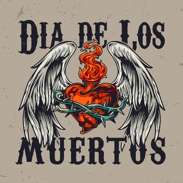 Concept Coloré De La Journée Mexicaine Des Morts Vecteur gratuit