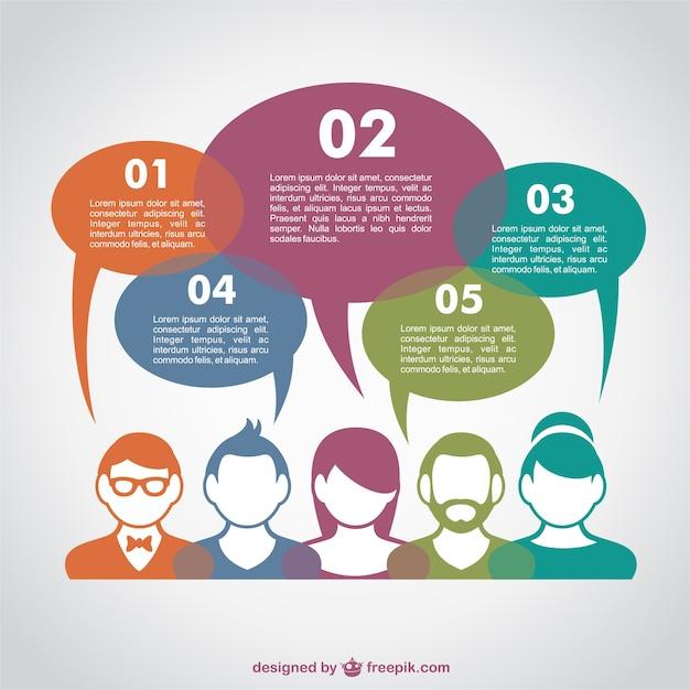 Concept De Communication Infographie Vecteur Libre Vecteur gratuit