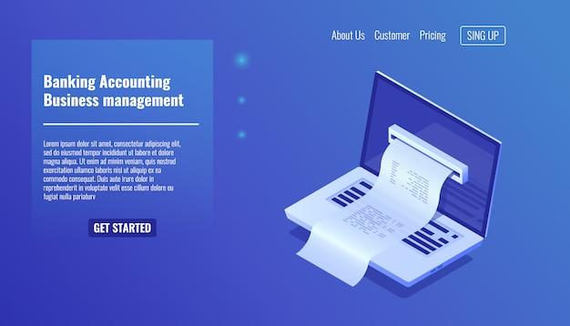 Concept de comptabilité bancaire, gestion d'entreprise et gestion financière Vecteur gratuit