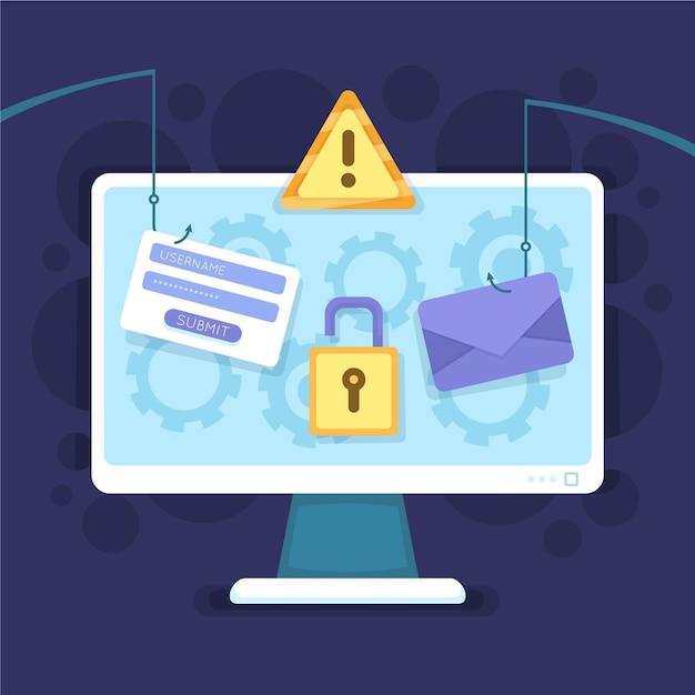 Concept De Compte De Phishing Vecteur gratuit