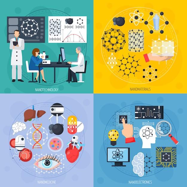 Concept de conception des nanotechnologies Vecteur gratuit