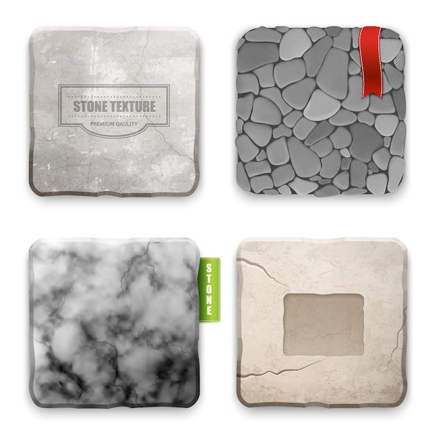 Concept de conception de texture de pierre réaliste Vecteur gratuit
