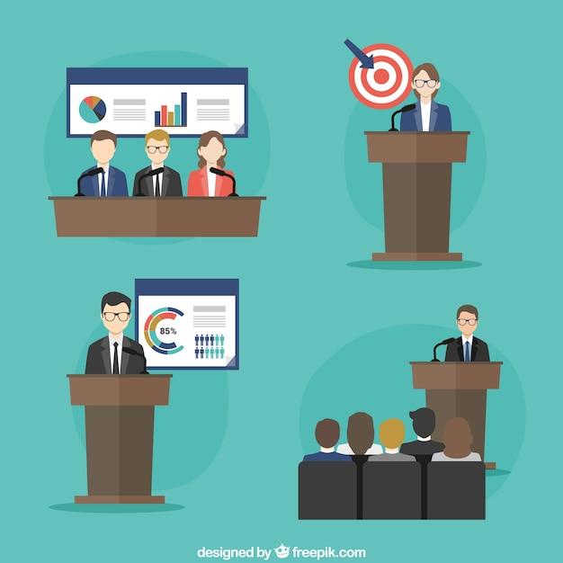Concept de conférence d'affaires Vecteur gratuit