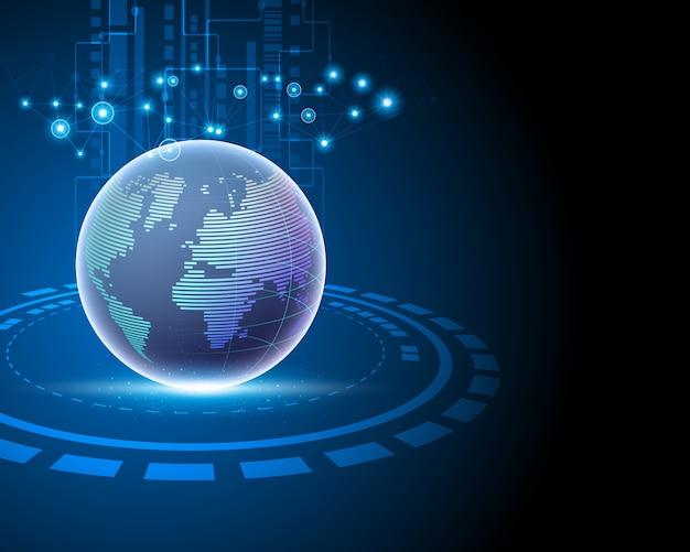 Concept De Connexion Au Réseau Mondial De Données Internet. Vecteur Premium