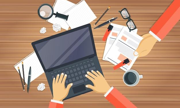 Concept de conseils de blogging Vecteur Premium