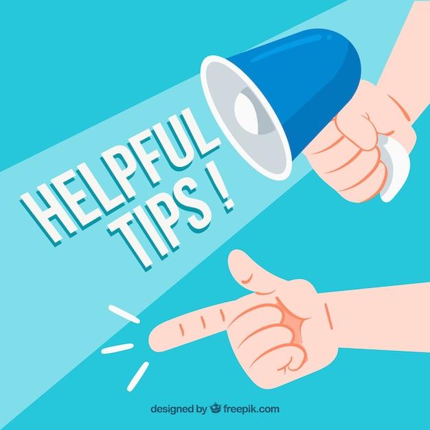 Concept de conseils utiles dessinés à la main Vecteur gratuit