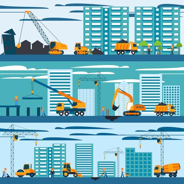 Concept de construction et de construction Vecteur gratuit