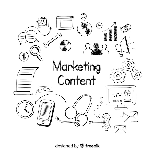 Concept De Contenu Marketing Vecteur Premium