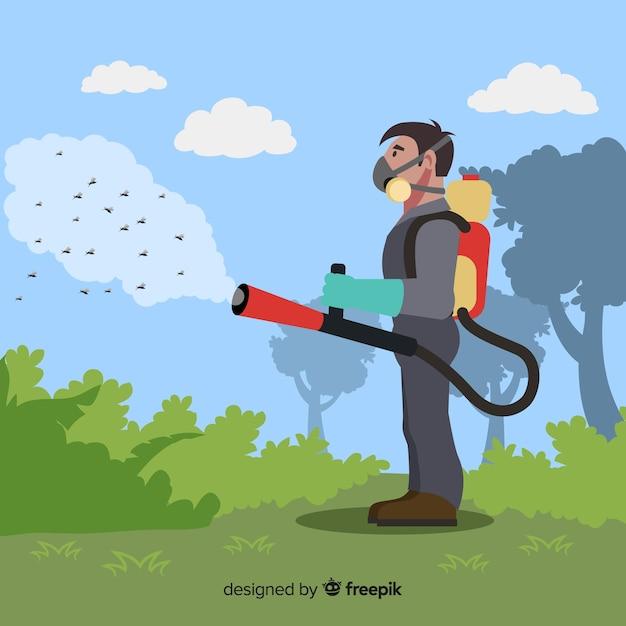 Concept de contrôle des moustiques Vecteur gratuit