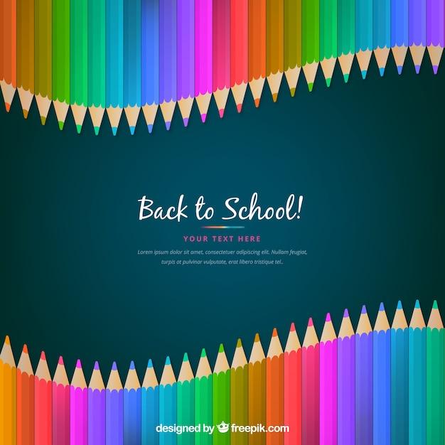 Concept de crayon de retour à l'école Vecteur gratuit
