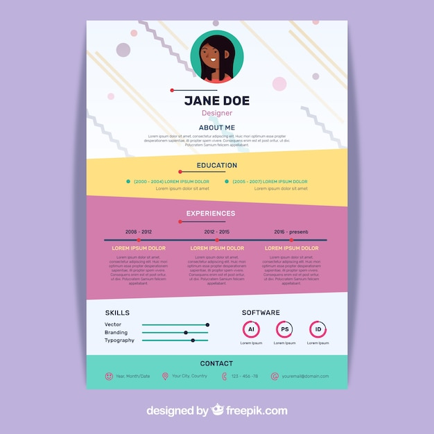 concept cr u00e9atif cv color u00e9