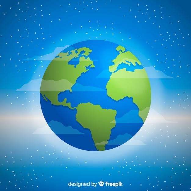 Concept créatif de la planète Terre Vecteur gratuit