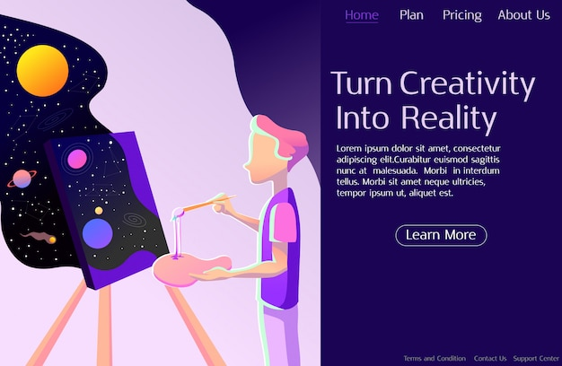 Concept Créatif, Productivité Vecteur Premium