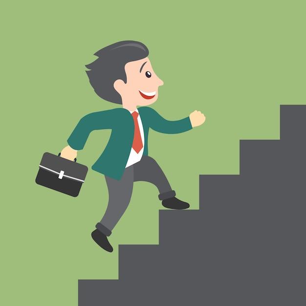 Concept de croissance de carrière Vecteur gratuit