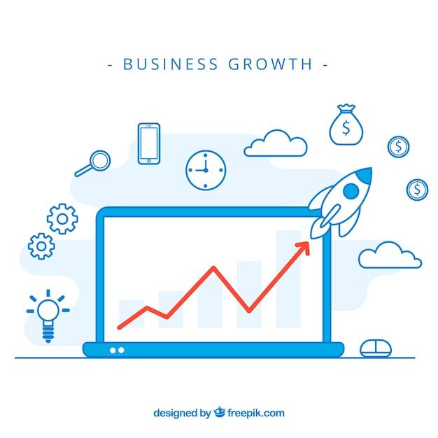 Concept de croissance d'entreprise moderne Vecteur gratuit