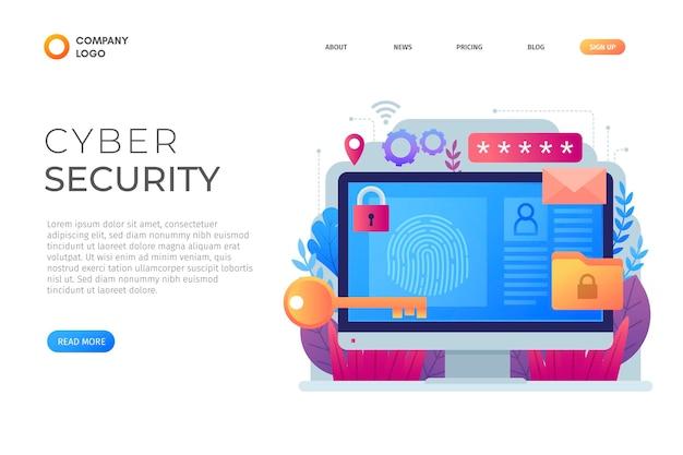 Concept De Cyber-attaque Vecteur Premium