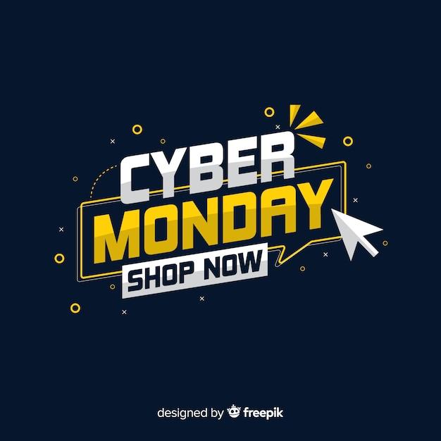 Le concept de cyber lundi vous oblige à magasiner maintenant Vecteur gratuit