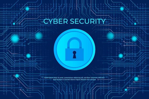 Concept De Cybersécurité Au Néon Avec Serrure Et Circuit Vecteur gratuit