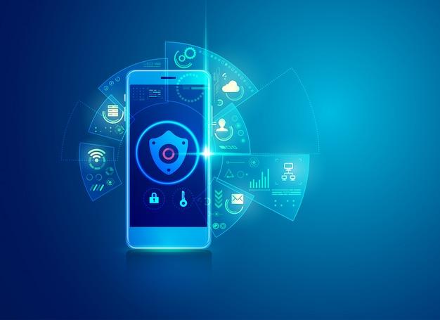 Concept De Cybersécurité Vecteur Premium
