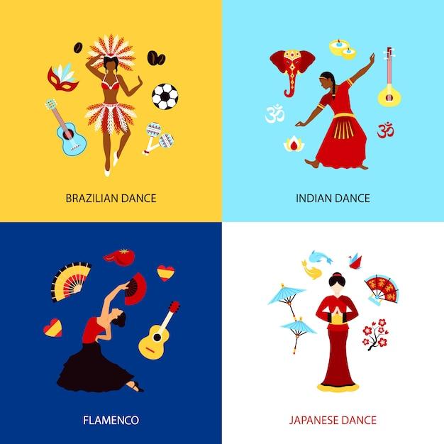 Concept de danse femme Vecteur gratuit