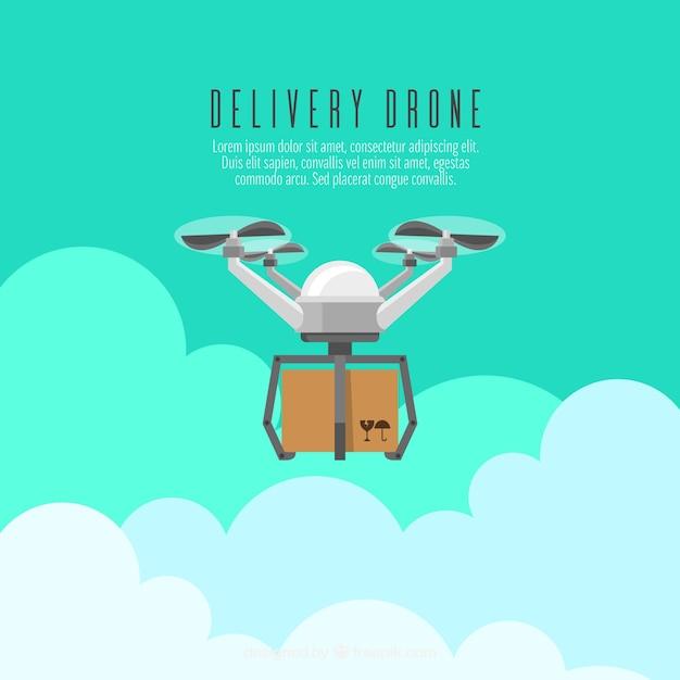 concept de drone de livraison avec design plat t l charger des vecteurs gratuitement. Black Bedroom Furniture Sets. Home Design Ideas