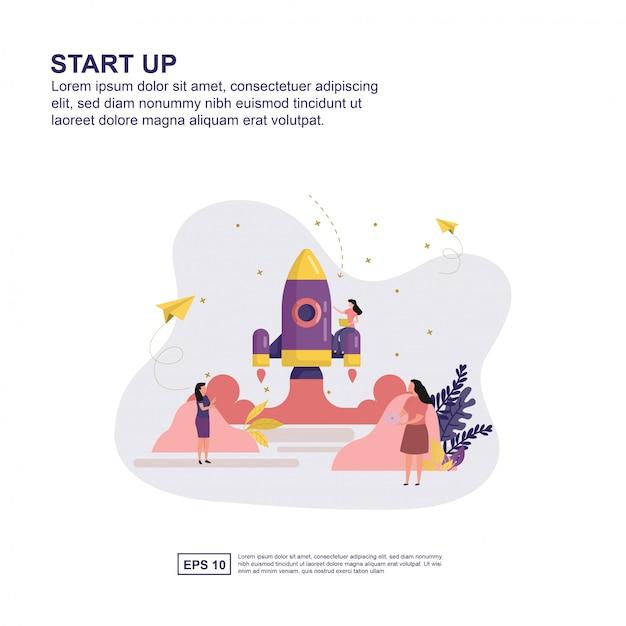 Concept de démarrage Vecteur Premium