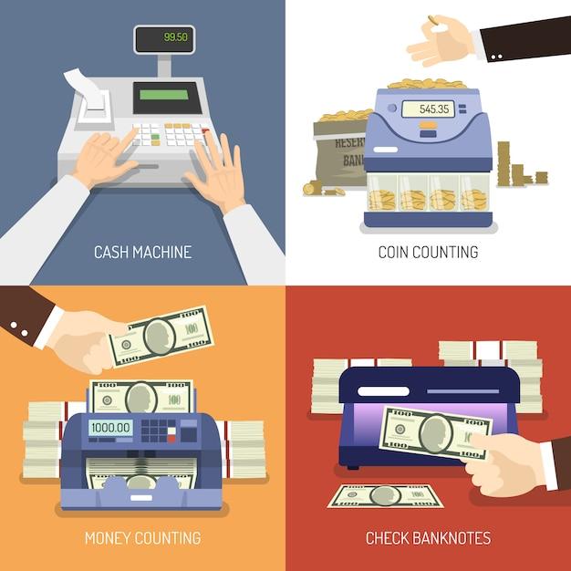 Concept De Design De Banque Vecteur gratuit