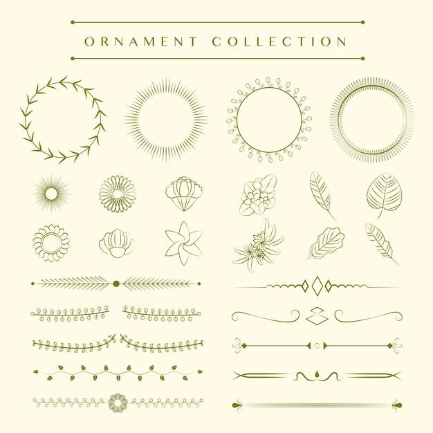 Concept de design de collection d'ornements Vecteur gratuit