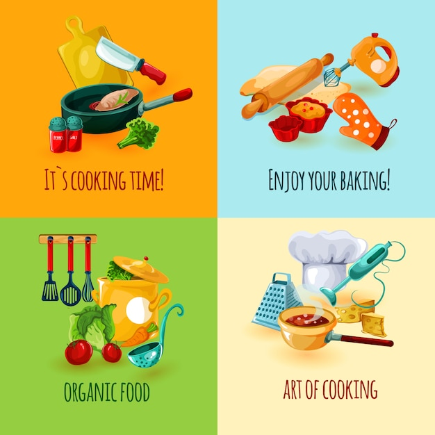 Concept de design de cuisine Vecteur gratuit