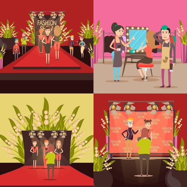 Concept de design de défilé de mode Vecteur gratuit