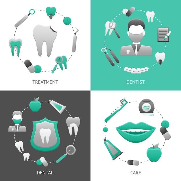 Concept de design dentaire Vecteur gratuit