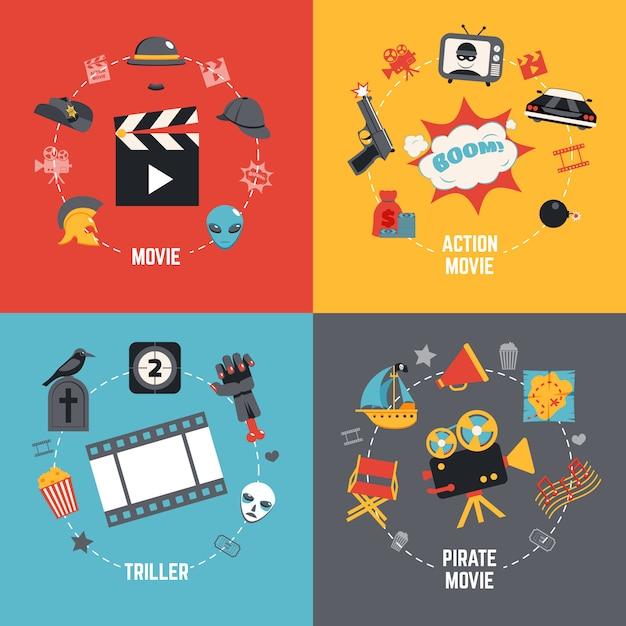 Concept de design de film Vecteur gratuit