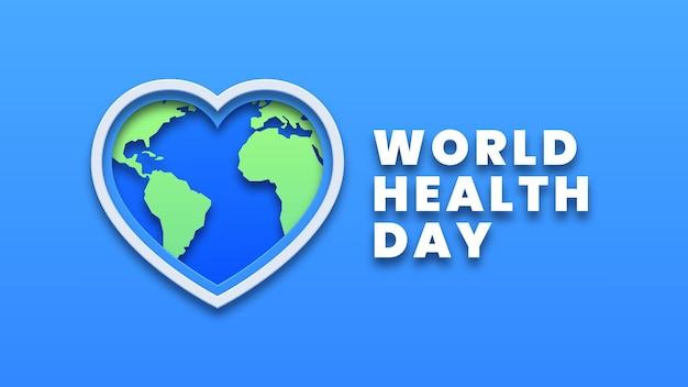 Concept De Design De La Journée Mondiale De La Santé Vecteur Premium