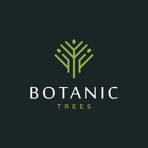 Concept de design de logo arbre. logo d'arbre universel. Vecteur Premium