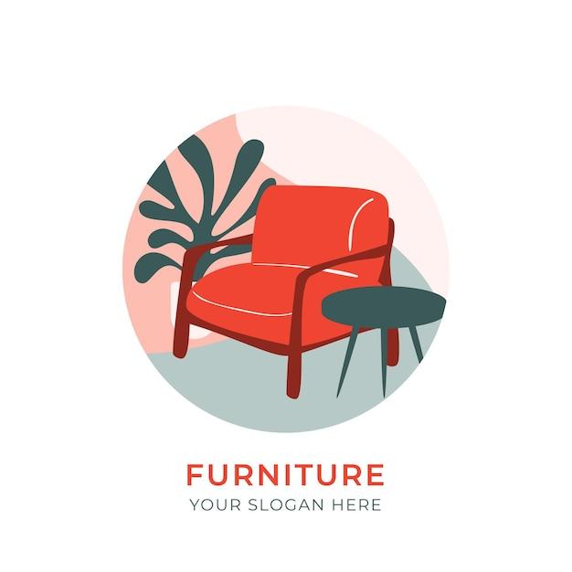 Concept De Design De Logo De Meubles Vecteur gratuit