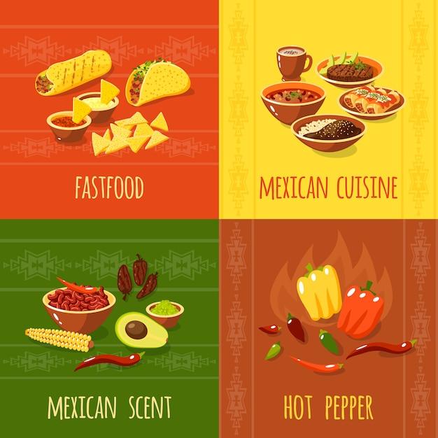 Concept de design mexicain Vecteur gratuit