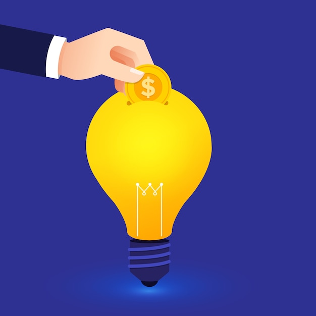 Concept de design plat créer une grande idée Vecteur Premium