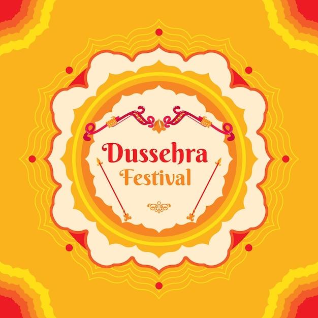 Concept De Design Plat Dussehra Vecteur Premium