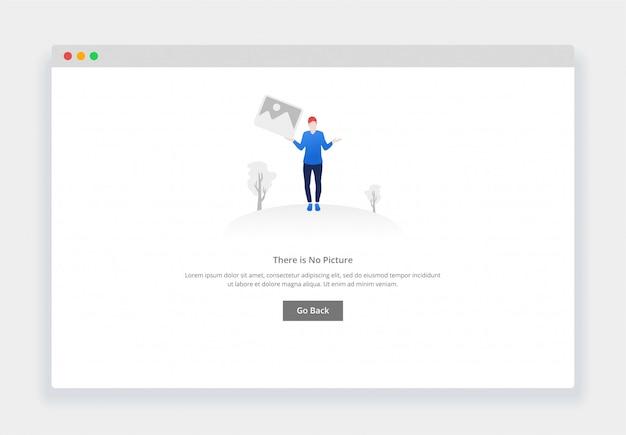 Concept De Design Plat Moderne, Il N'y A Pas D'image Pour Site Web Et Site Web Mobile. Modèle De Page D'états Vides Vecteur Premium