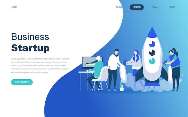 Concept de design plat moderne de startup your project Vecteur Premium