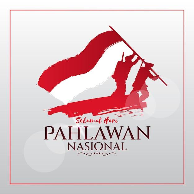 Concept De Design Plat Pahlawan Vecteur Premium