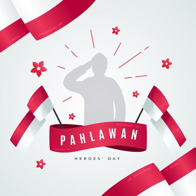 Concept De Design Plat Pahlawan Vecteur gratuit