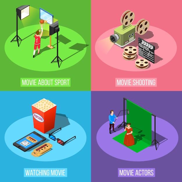 Concept de design de production de film Vecteur gratuit