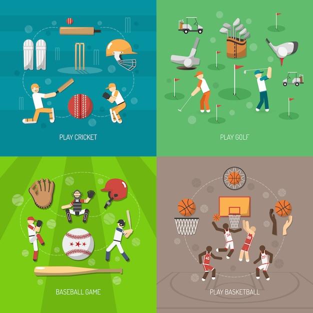 Concept de design sportif Vecteur gratuit