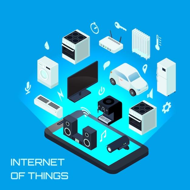 Concept De Design Urbain Internet Des Objets | Vecteur ...